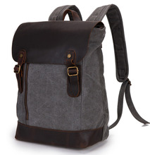 leather canvas bags Backpack leather bag Men's Leather Backpack