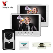 YobangSecurity 7 Inch Video Door Phone Intercom Doorbell Camera Hands Free Monitor Intercom Doorbell With electronic Door Lock
