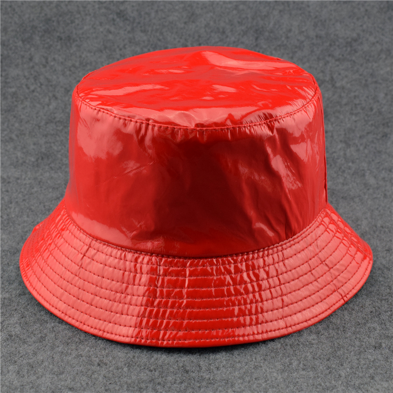 Buy bucket hat pu and get free shipping on AliExpress.com 49c2b21a88e4