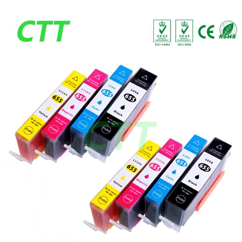 8 pcs hp655 ink cartridge compatible for HP655 cartridges for HP Deskjetjet 3525 4615 4625 5525
