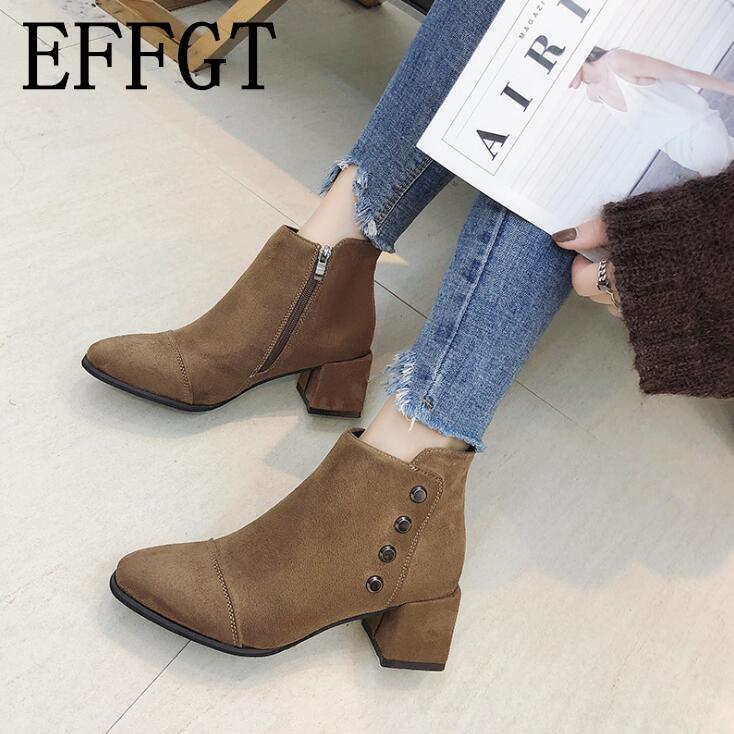 Las Casual Tobillo Mujer Zapatos Mujeres Tacón De Cálido V517 Invierno 2019  marrón Nieve Occidental Negro Alto ... 8dcf30a11bef