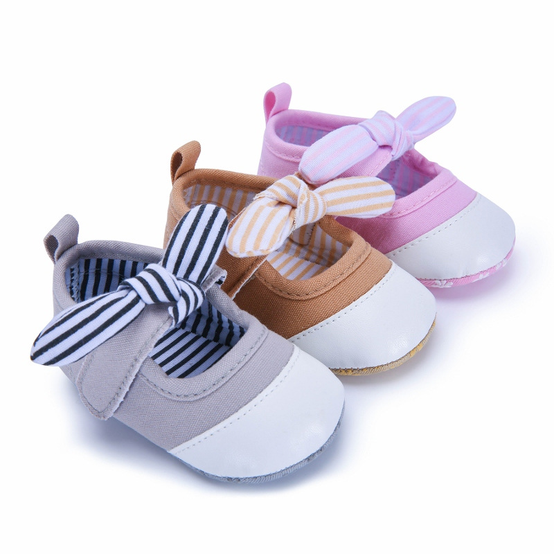 2018 New Baby Girls First Walkers Cute Soft Sole Infant Toddler Shoes Princess Prewalkers