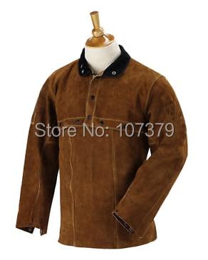 Leather Welder Apron Open Back  Leather Welder Clothing Cow Split Leather Welding Jacket