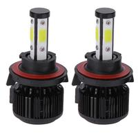 1 Pair Universal 6500K 5000LM H13 LED COB Car Headlight Bulbs Voiture 360 Degrees Auto Beaming