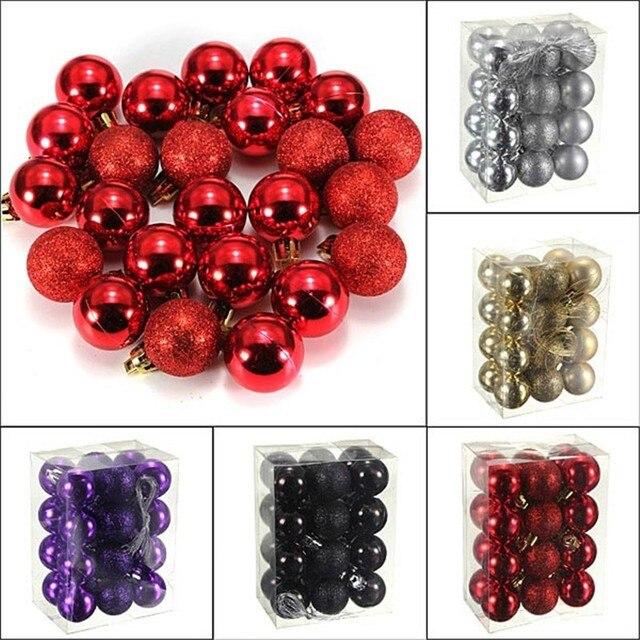 Us 8 55 24pcs Lot Plastic Christmas Tree Jewelry Ornament Black Christmas Balls Best Sell Styrofoam Balls 3cm Christmas Tree Balls In Ball Ornaments