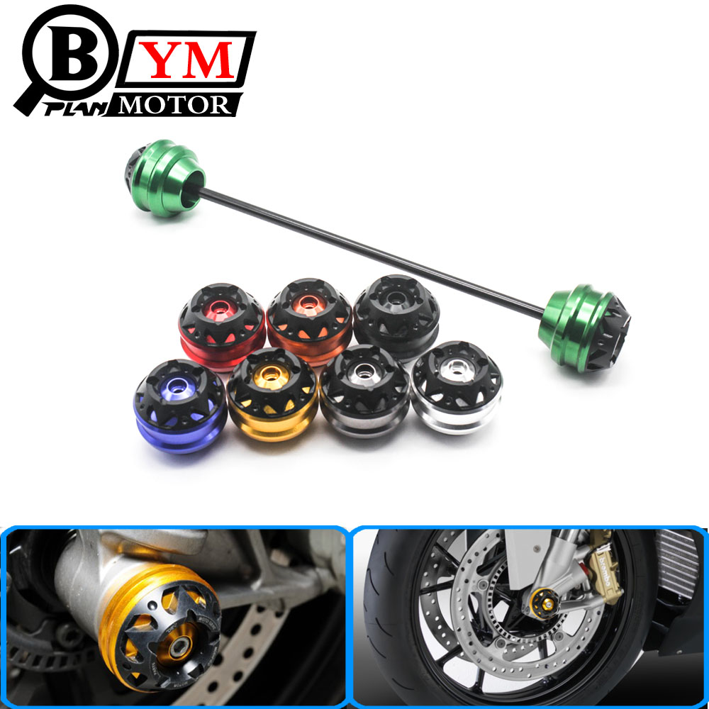Motorcycle Front Axle Fork Crash Slider Wheel Protector Fit For Kawasaki Z800 Z1000 2013 2014 2015 5 Colors Available amo wheel seal front axle