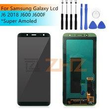 Pour samsung Galaxy J6 LCD affichage J600F J600F/DS J600G/DS écran tactile numériseur assemblée pour samsung j600 LCD 5.6 pièces de réparation