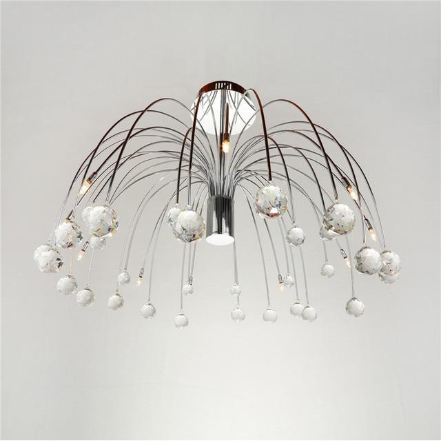 Moderne Luxus Kristall 10 Lichter Trommel Feuerwerk Form Deckenleuchte  Beleuchtung Für Schlafzimmer Wohnzimmer G4 Birne CL139