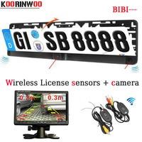 Free Shipping Parktronic 7 Inch Car Rearview Monitor Car Parking Sensor Radars Video Car License Plate