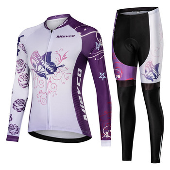Women Cycling Jersey Long Sleeve Mtb Bicycle Clothing Bike Biking Cycling Set Quick Dry Ciclismo Ropa Bisiklet Clothes Pro Suit gobikful women s cycling jersey set pro team keep warm long sleeve mtb bike clothes wear bicycle cycling clothing ropa ciclismo