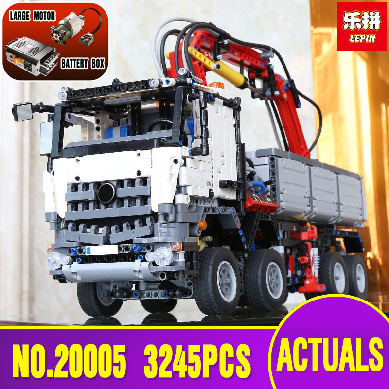 DHL Free shipping LEPIN 20005 technic series Arocs Model Building blocks Bricks Compatible Toy for Children legoing 42043 model lepin technic series building bricks 20005 2793pcs arocs truck model building kits blocks compatible 42043 boys toys gift