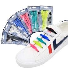 14pcs/lot Lazy Silicone Shoe Laces No Tie Elastic Sneakers ShoelaceAthletic Running Sport Shoelaces Children Adult Strings