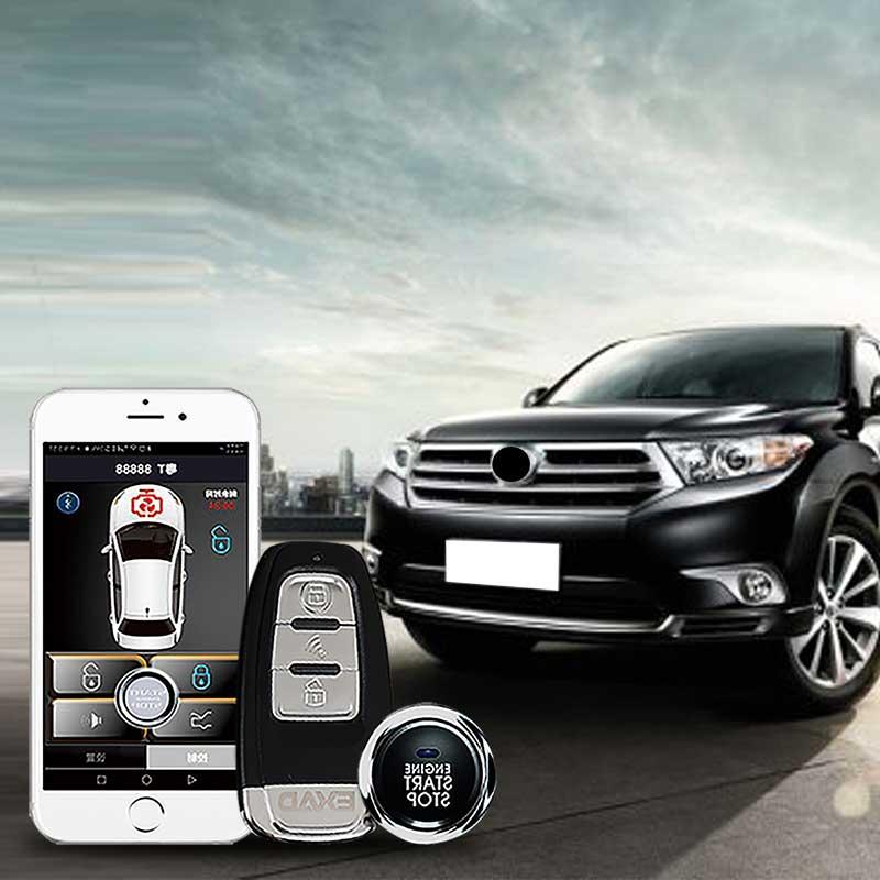 Remote Start Auto Car Alarm Engine Starline Push Button  RFID Lock Ignition Switch Keyless Entry System APP Starter Anti-theft