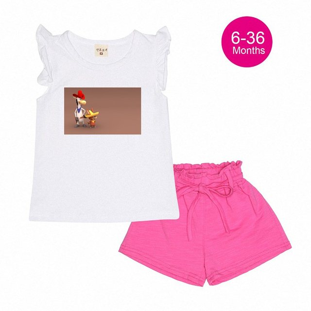 f7bb98a4eaa13 Cartoon Quick Draw Mcgraw Quick Draw Baby Designer Girls Baby Clothes  Cotton Children cartoon T-Shirt Pants Clothing Set