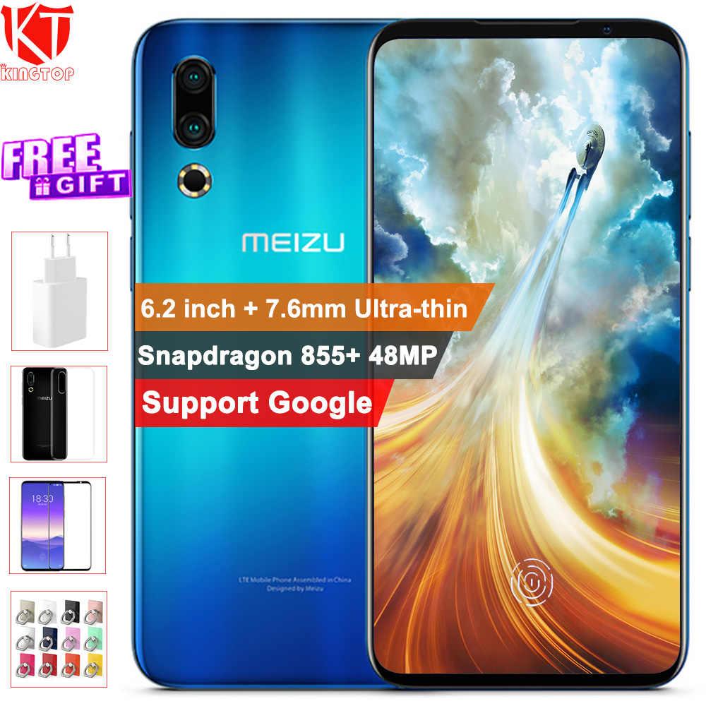 "Global ROM Original Meizu 16s téléphone Mobile 6.2 ""8G 128G Snapdragon 855 48MP + 20MP caméra 3600mAh empreinte digitale téléphone intelligent"