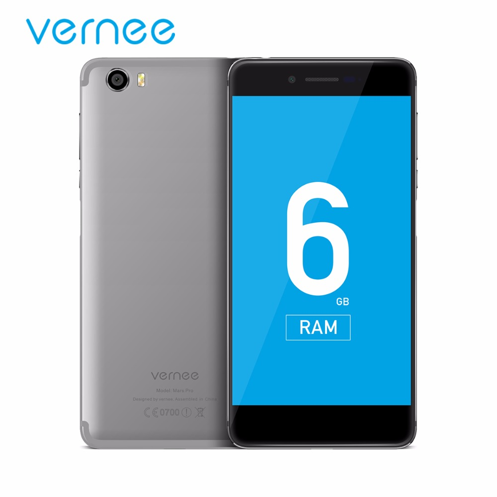 """Vernee Mars Pro 6G RAM 64G ROM Mobile Phone MTK Helio X20 Deca-Core 5.5"""" 13.0MP Camera Cellphone 4G Lte Android 7.0 Fast Charger"""