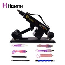 Hismith Sex Machine for women with vibrating dildo folding rod automatic retractable pumping gun Love machine 8pcs attachments недорго, оригинальная цена