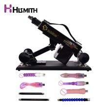 Hismith Sex Machine for women with vibrating dildo folding rod automatic retractable pumping gun Love machine AU EU US UK Plug