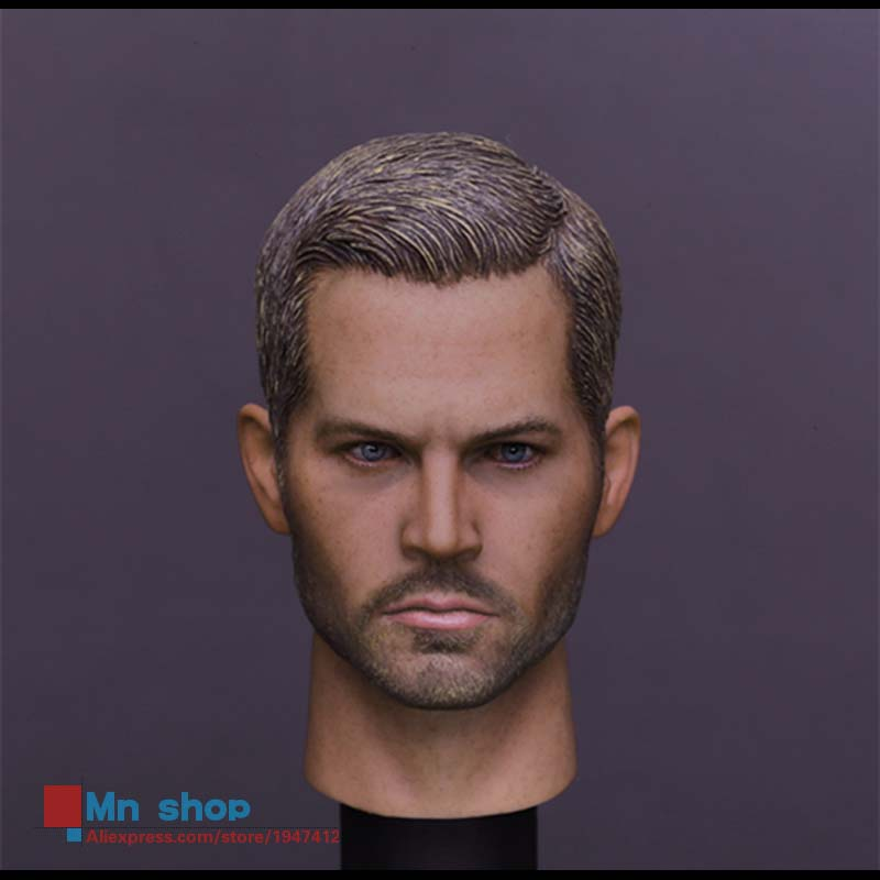 New Arrivals Fast & Furious Paul Walker 1/6 Action Figure Head Sculpt Movies Scale Models DIY Accessories Hot Toys in-Stock