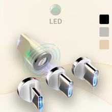 Магнитный адаптер 3 в 1 для быстрой зарядки, 3 А, IOS Android Type-C с магнитной передачей, разъем Micro USB