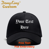 DongKing Custom Baseball Cap Curved Visor Cotton Dad Hats Custom Text Name Embroidery 6 Panels Bronze