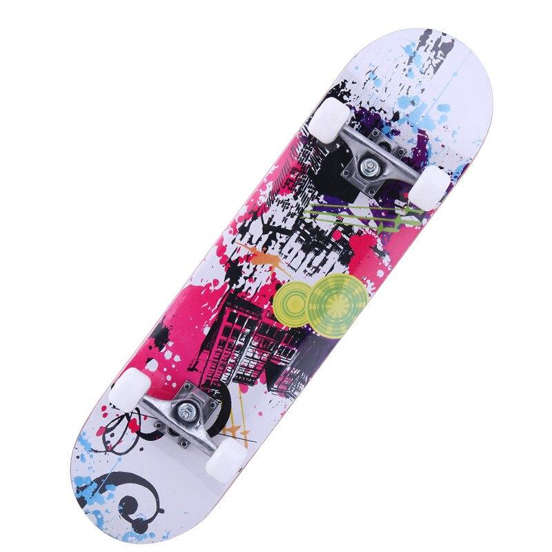 Image 3 - 31inches Adult & Kids Double Rocker Skateboard Complete Skateboard Skate Board Street Dancing Skateboard Maple Deck Board-in Skate Board from Sports & Entertainment