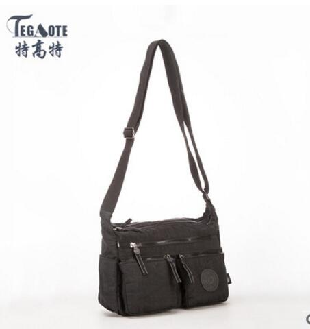 TEGAOTE Luxury Women Messenger Bag Nylon plecu soma Ladies Bolsa - Rokassomas