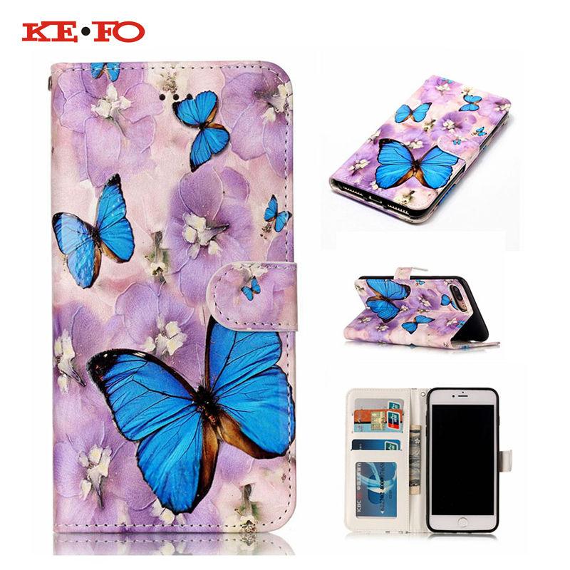 Телефон case для iphone 5s se 6 6 s 7 plus ipod touch 5 3d рельеф печати стерео чувство смарт откидная крышка для zte zmax pro z981