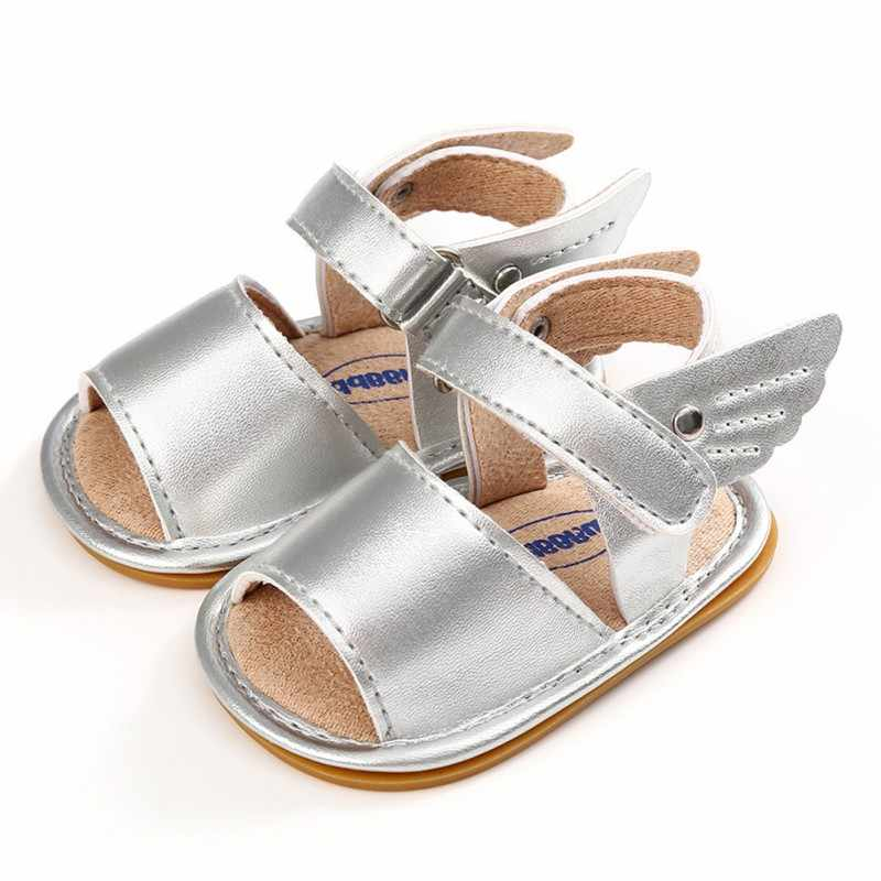 b61ff8d89 ... New Summer Baby Sandal Boys Girls Shoes Solid Wing Fashion Shoes  Newborn Infant Toddler Soft Rubber ...