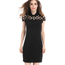 Big Size White Black Bandage Pencil Dress