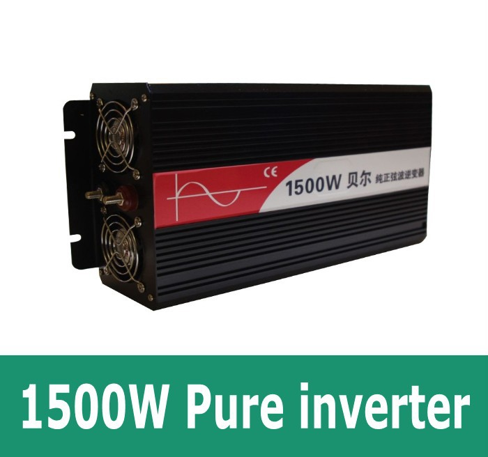 цена на 1500 Watt Pure Sine Wave Power Inverter Solar Inverter, DC12V/24V to AC Power Invertor 1500w inversor painel solar