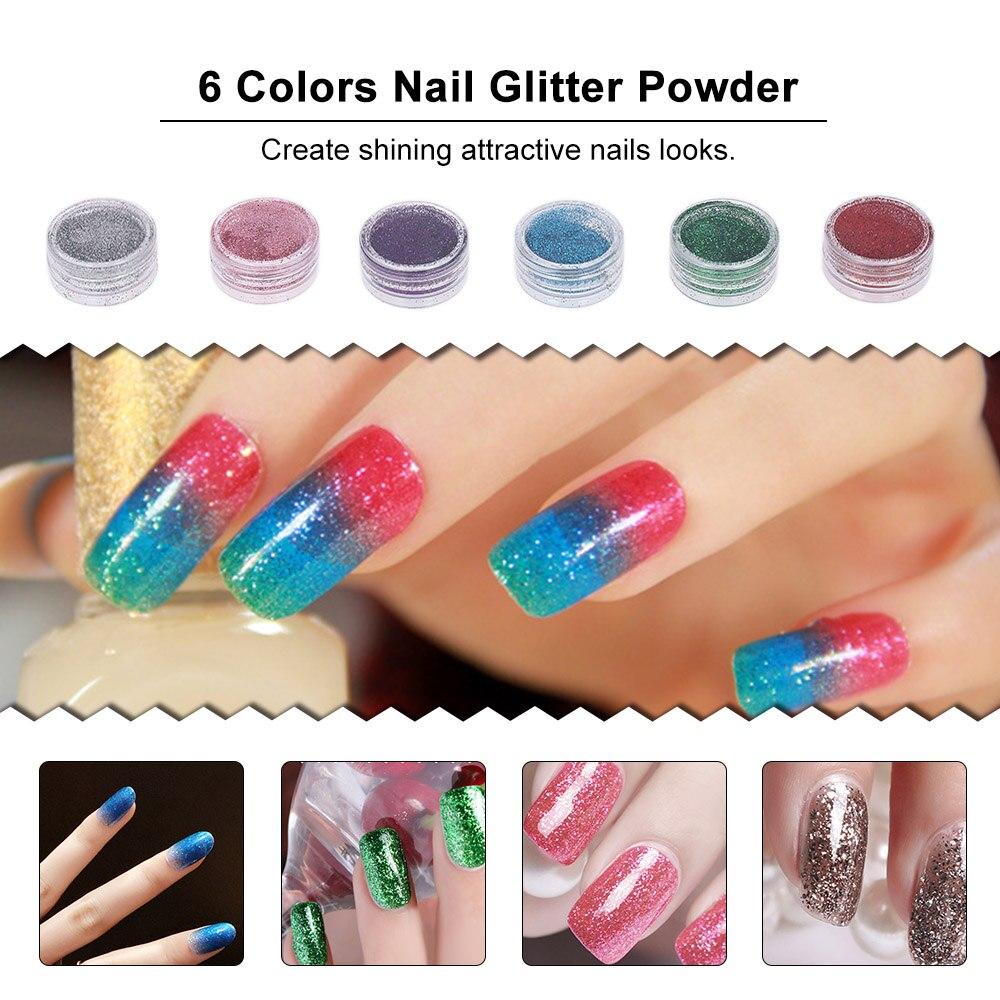 Nail Art Tools Kit Professional French Nail Tips Acrylic Glitter