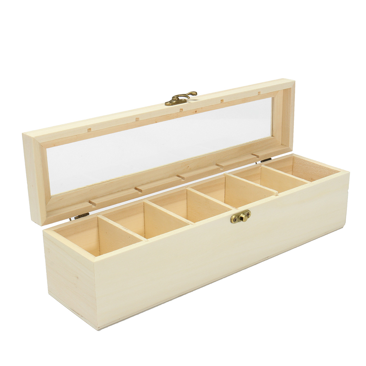 Wooden Tea Bag Box Five/Six Compartments Jewelry Accessories Storage Glass Top Vintage Wood Craft Store Box Case Container-in Storage Boxes u0026 Bins from Home ...  sc 1 st  AliExpress.com & Wooden Tea Bag Box Five/Six Compartments Jewelry Accessories ... Aboutintivar.Com