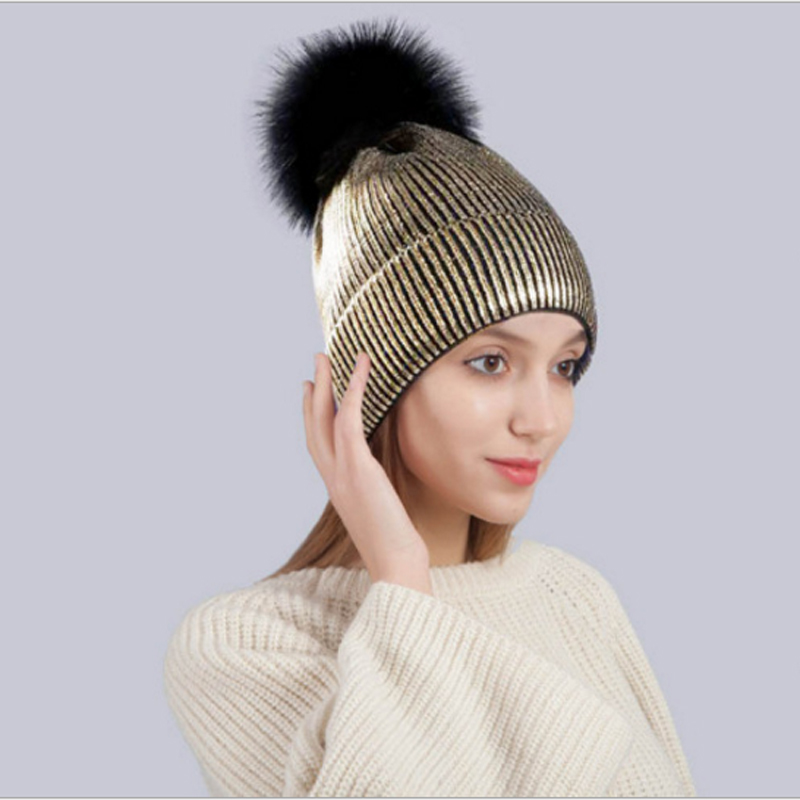 Unisex Hats Women's Winter Hat Autumn Men Soft Warm Knitted Skullies Beanies Hat Acrylic Solid Metallic Hip Hop Hairball Hat hat winter thick stickers letter knitted hat wool hat korean embroidery warm hats tide men and women