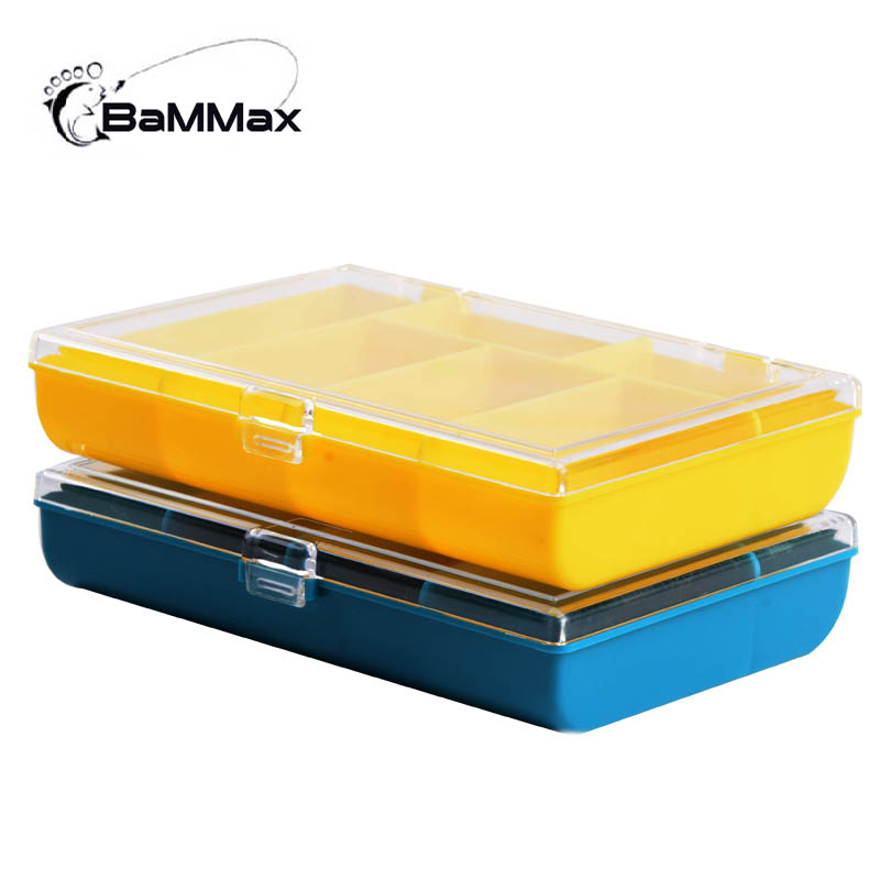 Bammax fishing Box 120*85*25mm Waterproof Fish Accessaries etc. 6 Compartments Storage Case Portable Clear Plastic Fishing tool
