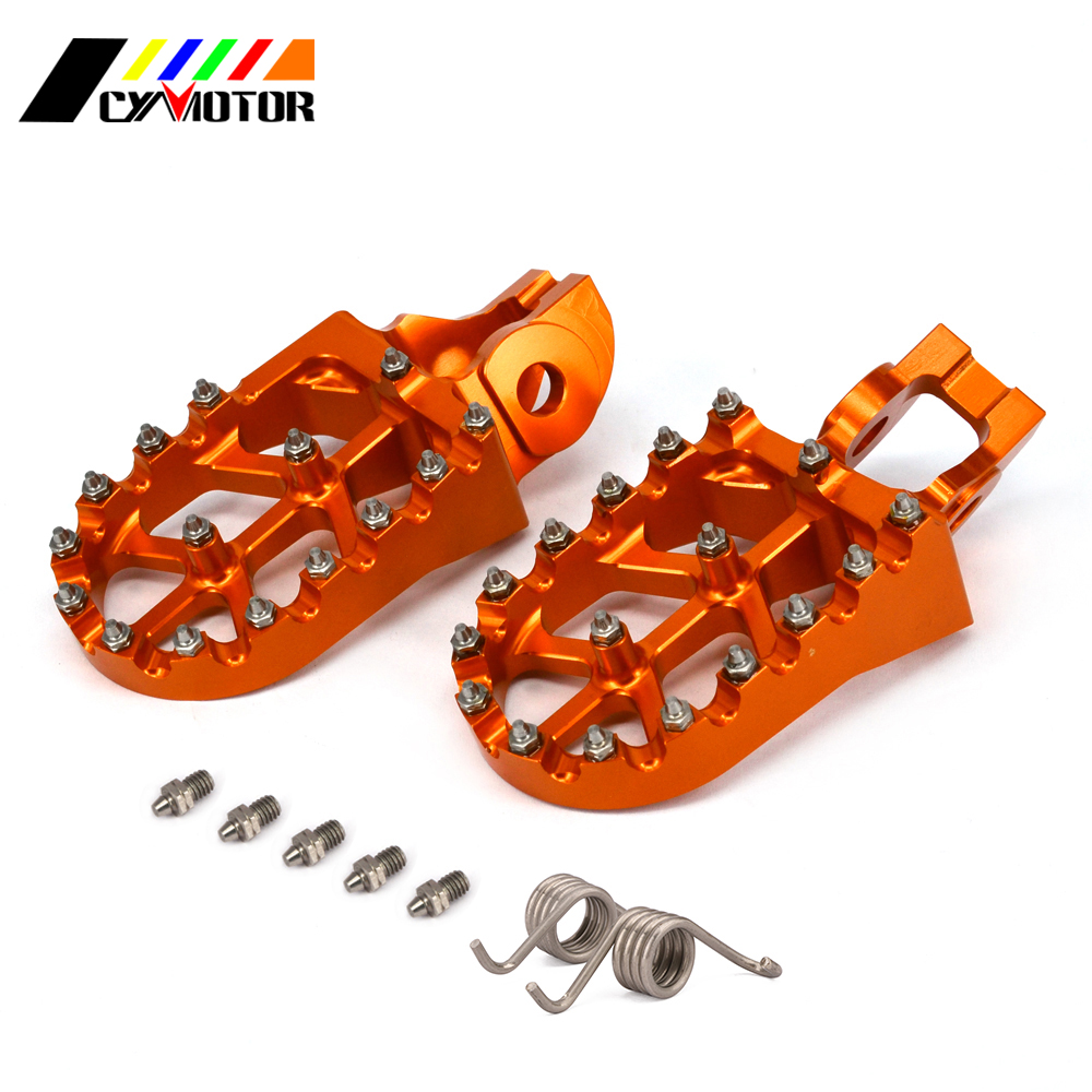 CNC Motorbike Foot Pegs Motorcycle Footpeg Pedal For KTM 85 125 250 300 450 501 530 SX SXF EXC EXCF XC XCF XCW TC TE FE TX FS