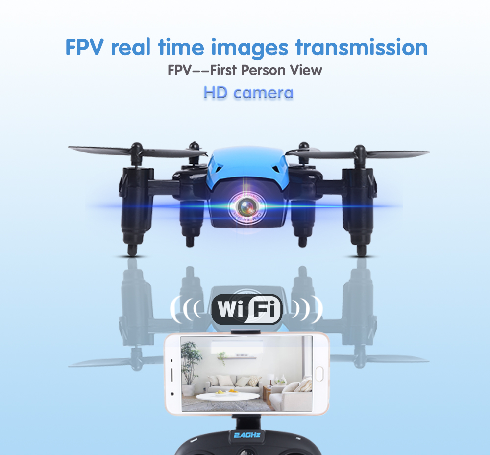 S9 S9HW Mini Foldable Pocket Drones with Camera HD Dron FPV RC WIFI Quadcopter/Helicopter VS Xs809hw JJRC H43WH JXD 523W foldable selfie drone dron tracker phone control mini drones with wifi fpv hd camera pocket helicopter jxd 523 523w vs jjrc h37