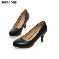 New Women's High Heels Women Pumps Thin Heel rouned Toe High Heel women work dress Shoes
