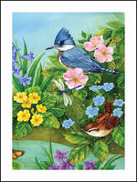 Bird And Flower Embroidery DIY Diamond Painting 5D Cross Stitch Mosaic Pattern Square Rhinestone Needlework Gift
