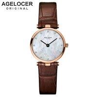AGELOCER часы для женщин часы платье часы AGELOCER бренд для женщин Повседневное кожа кварц часы аналоговые для женщин наручные часы подарки