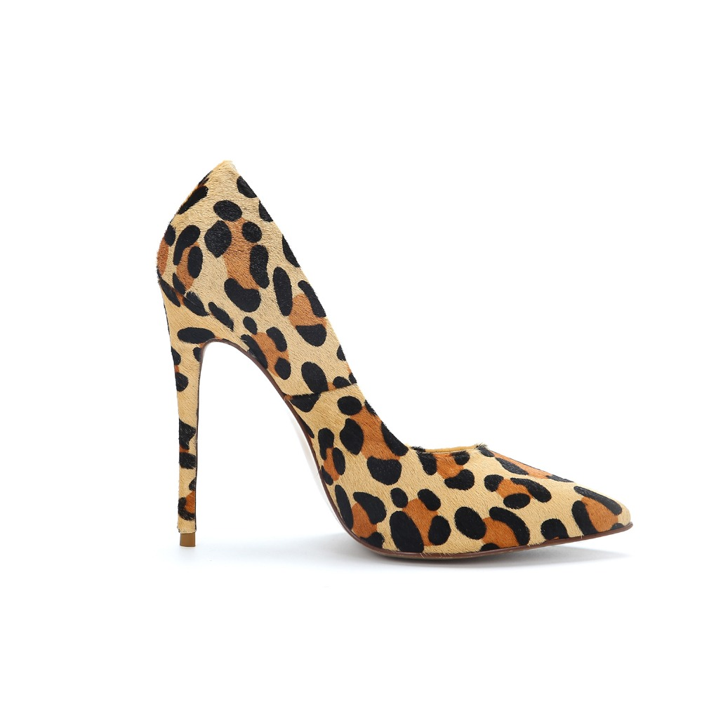 12CM OKHOTCN Brand Shoes Woman High Heels Pumps Red High Heels Women Shoes High Heels Wedding Shoes Pumps Leopard Shoes Heels