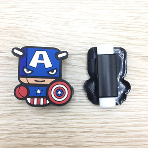 Image 5 - 200pcs Cartoon USB Cable Protector Management Data Line Organizer Clip Protetor De Cabo Cable Winder For iPhone 7 Samsung Huawei