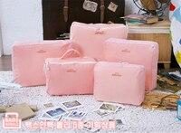 Groothandel voor waterdichte 5 stks/set traveling verpakking cubes kleding ondergoed organizer opbergtas in tas
