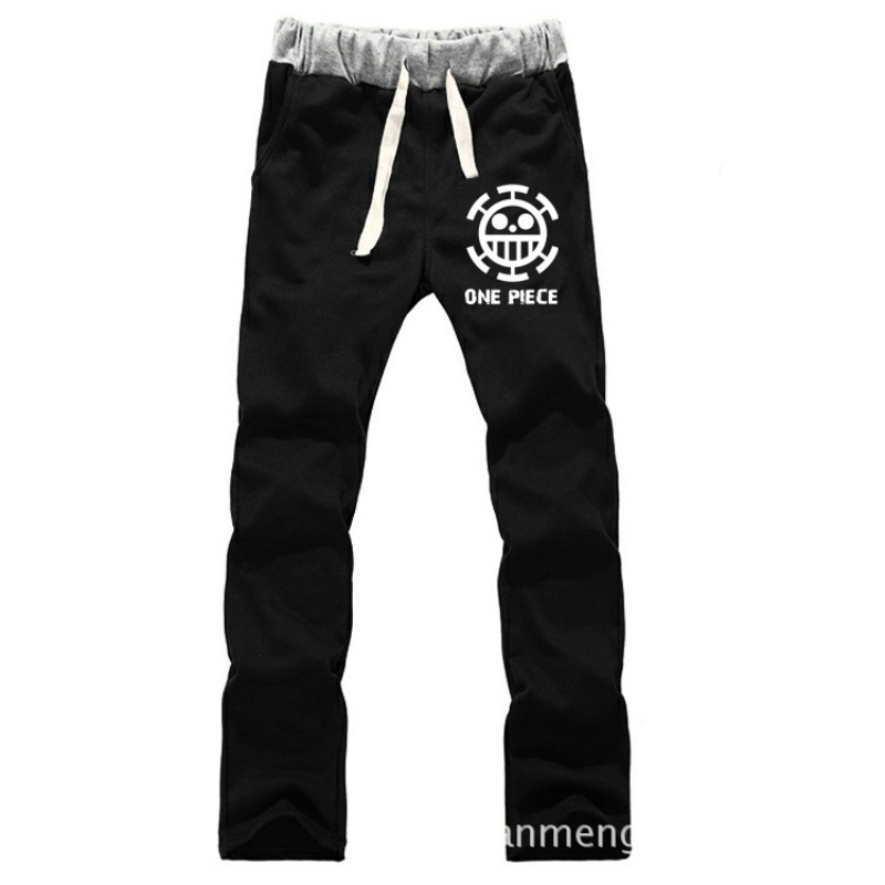 Anime One Piece Trafalgar Law LOVERS pure cotton pants casual trousers cosplay gift BY0078 in Casual Pants from Men 39 s Clothing
