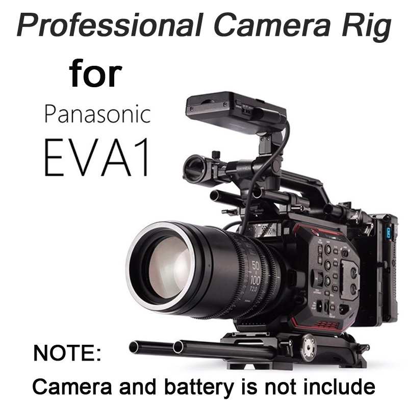 TILTA ES T86 Professional Camera Rig for Panasonic EVA1 V lock plate+Power supply system+Lengthening arm Cage Kit