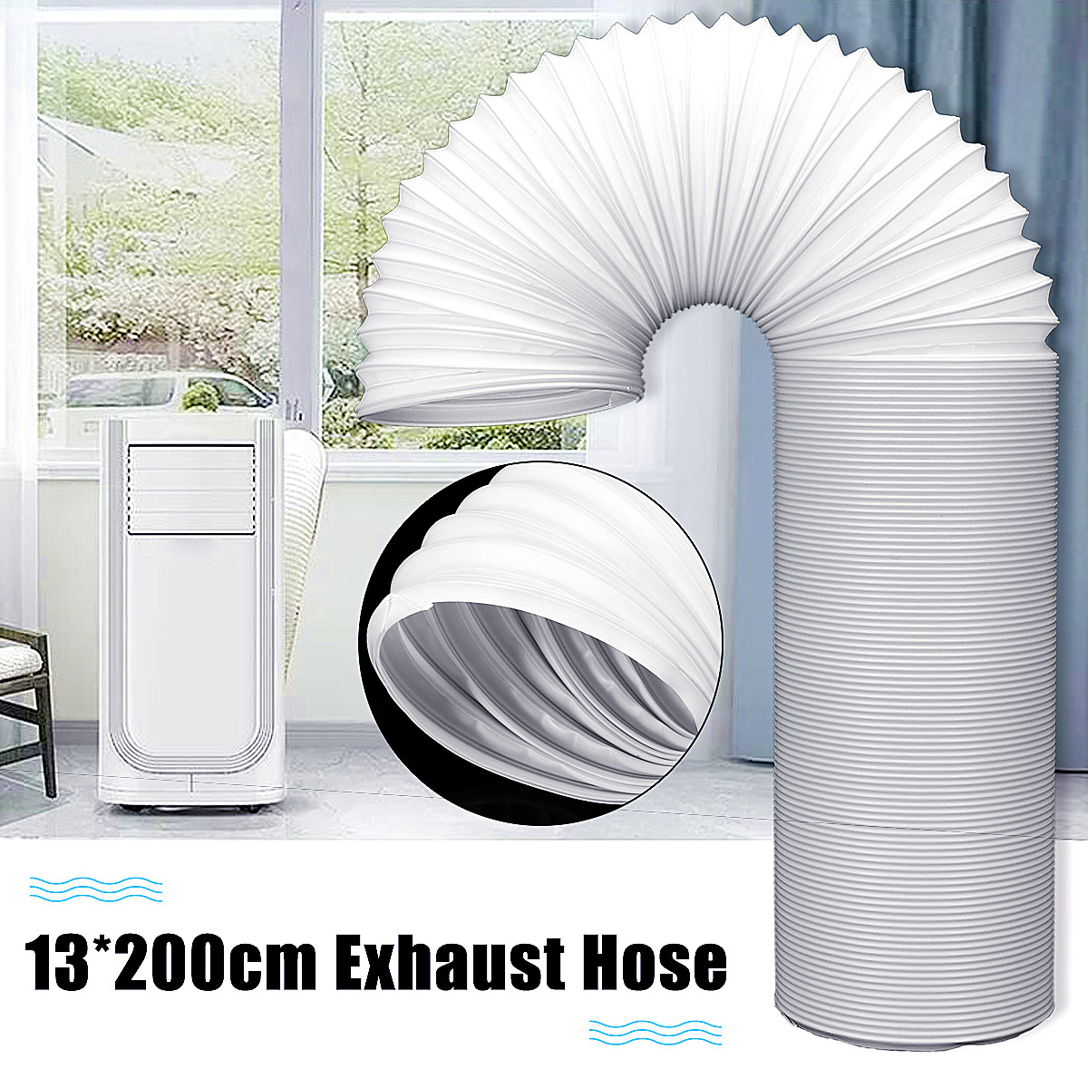 US $19 35 42% OFF|2M Universal Exhaust Hose Tube For Portable Air  Conditioners 5