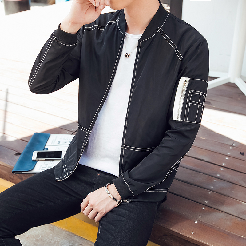 2017 spring thin tux trend of cultivate one s morality men s baseball collar jacket coat