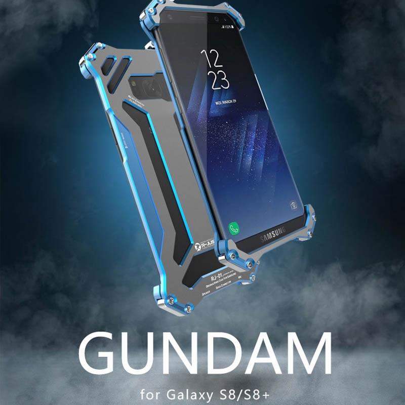R-JUST Gundam Kovové nárazníkové pouzdro pro Samsung Galaxy S8 Samsung S8 Plus S8 + Brnění Doom Hliníková pouzdra