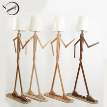 Nordic modern art deco humanoid floor light E27 220V LED personality floor lamp for bedroom restaurant parlor kitchen study cafe(China)