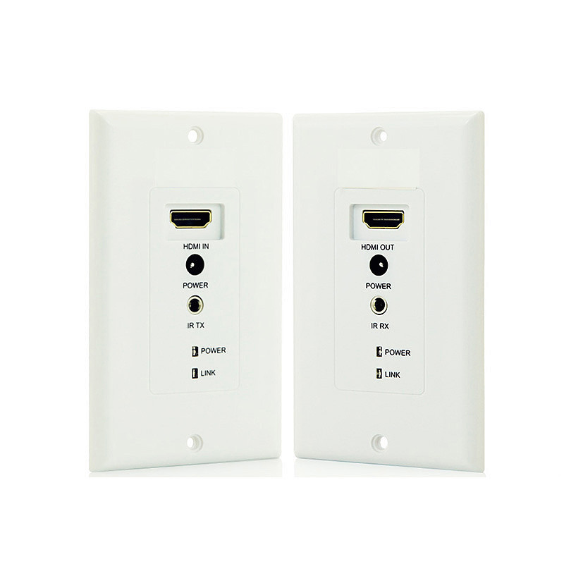 HighTek HK-HE50 RJ45 HDMI Extender Over Ethernet CAT5e/6 , Wall Plate IR Remote 50meters 1080P HDMI extender 120m 150m 200m h 264 hdmi over tcp ip extender with 20 60 khz ir